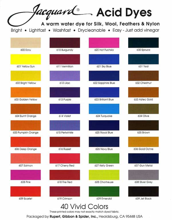 Jacquard Acid Dyes - Click Image to Close