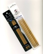 Bamboo Double Point Needles 6""