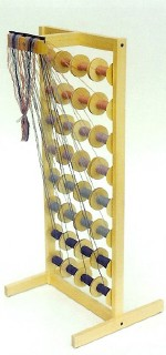 Louet Bobbin Rack with 32 Bobbins