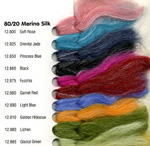 Dyed Merino/Silk